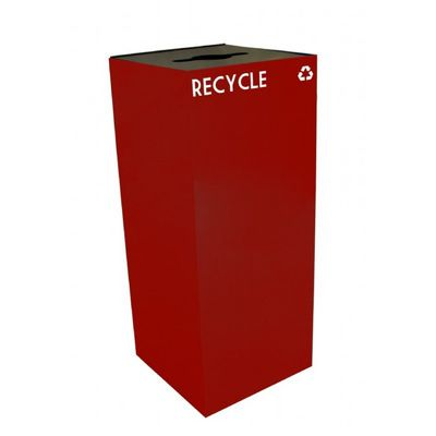 Witt Indoor Recycling Container 36 Gal. Scarlet Steel W-36GC04-SC