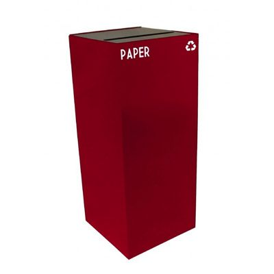 Witt Indoor Recycling Container 36 Gal. Scarlet Steel for Paper W-36GC02-SC