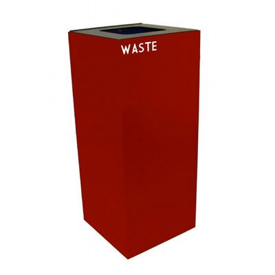 Witt Indoor Recycling Container 36 Gal. Scarlet Steel for Waste W-36GC03-SC