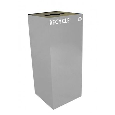 Witt Indoor Recycling Container 36 Gal. Slate Steel W-36GC04-SL
