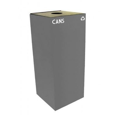 Witt Indoor Recycling Container 36 Gal. Slate Steel for Cans W-36GC01-SL