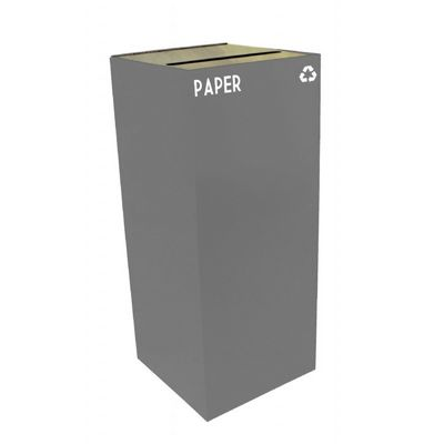 Witt Indoor Recycling Container 36 Gal. Slate Steel for Paper W-36GC02-SL