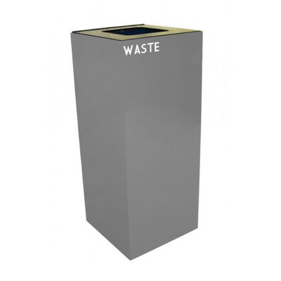 Witt Indoor Recycling Container 36 Gal. Slate Steel for Waste W-36GC03-SL
