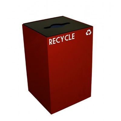 Witt Indoor Recycling Containers 24 Gal. Scarlet Steel W-24GC04-SC