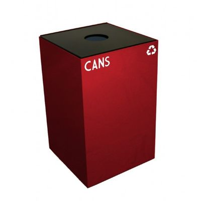 Witt Indoor Recycling Containers 24 Gal. Scarlet Steel for Cans W-24GC01-SC