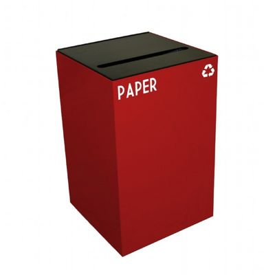 Witt Indoor Recycling Containers 24 Gal. Scarlet Steel for Paper W-24GC02-SC