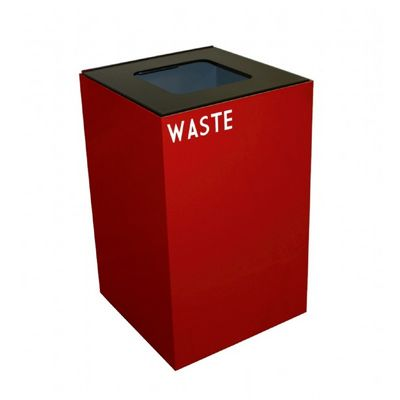 Witt Indoor Recycling Containers 24 Gal. Scarlet Steel for Waste W-24GC03-SC
