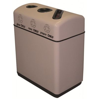 Witt Indoor Recycling Containers 36 Gal. Fiberglass W-11RR-361631