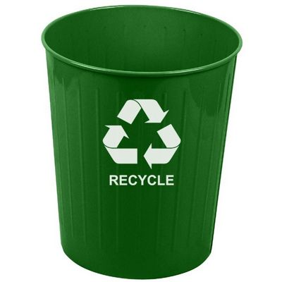 Witt Indoor Recycling Waste Basket Green Steel W-4GN-R