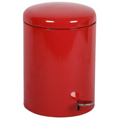 Witt Indoor Step-on Receptacle 4 Gal. Red Steel W-2240RD
