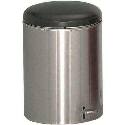 Witt Indoor Step-on Receptacle 4 Gal. Stainless Steel W-2240SS