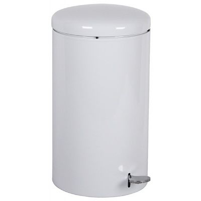 Witt Indoor Step-on Receptacle 7 Gal. White Steel W-2270WH