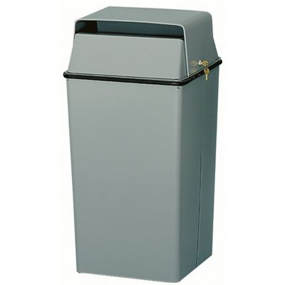 Witt Indoor Waste Containers 36 Gal. Slate Steel W-008LSL