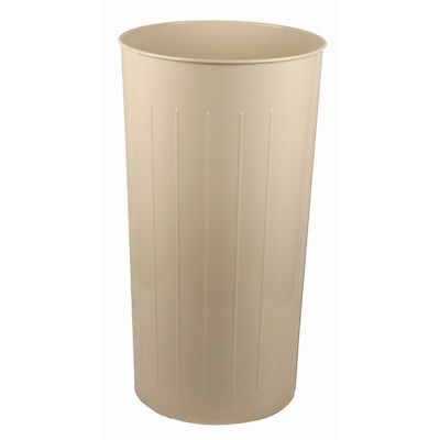 Witt Indoor Wastebasket Almond Steel W-10AL