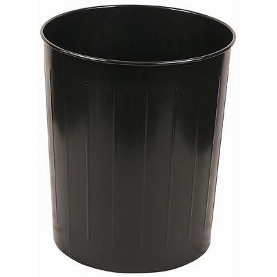 Witt Indoor Wastebasket Black Steel W-5BK
