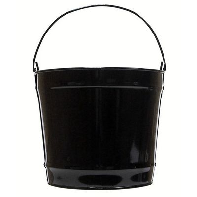 Witt Outdoor 10 Qt Pail Gloss Black Steel W-W10PCGB