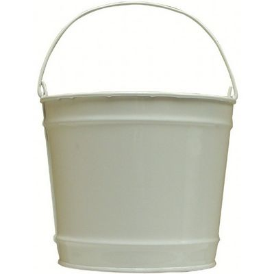 Witt Outdoor 10 Qt Pail Gloss White Steel W-W10PCGW
