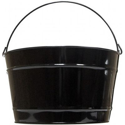 Witt Outdoor 16 Qt Pail Gloss Black Steel W-W16PCGB