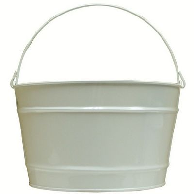 Witt Outdoor 16 Qt Pail Gloss White Steel W-W16PCGW