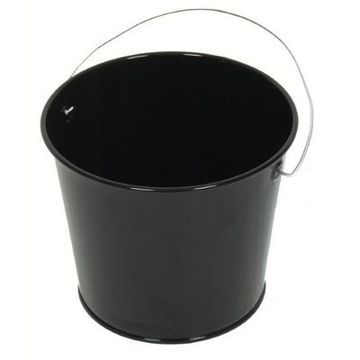 Witt Outdoor 2 Qt Pail Gloss Black Steel W-W2PCGB