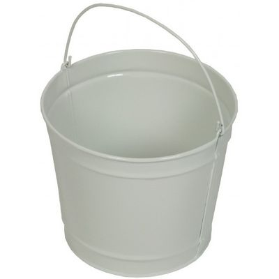 Witt Outdoor 2 Qt Pail Gloss White Steel W-W2PCGW
