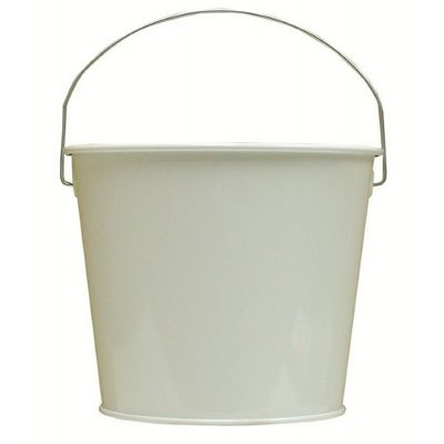 Witt Outdoor 5 Qt Pail Gloss White Steel W-W5PCGW