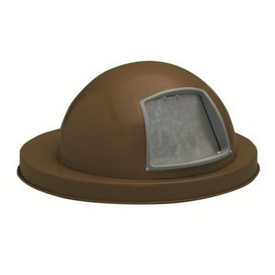 Witt Outdoor Dome Top Lid Brown Steel W-M3601-DTL-BN