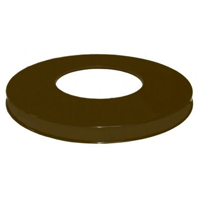 Witt Outdoor Flat top Lid Only Brown Steel W-M3601-FTL-BN