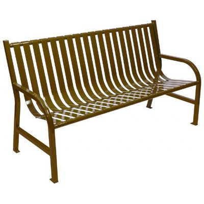 Witt Outdoor Full Bench Brown Steel 5 Foot W-M5-BCH-BN