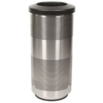 Witt Outdoor Perforated Receptacle 20 Gal. Stainless Steel W-SC20-01-SS