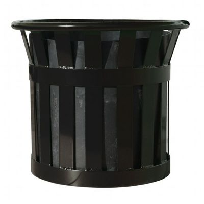 "Witt Outdoor Planter 22"" Black Steel W-MPL2220-BK"