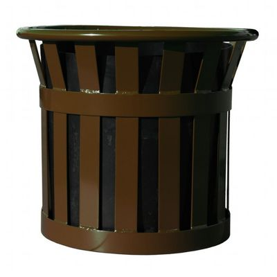 "Witt Outdoor Planter 22"" Brown Steel W-MPL2220-BN"