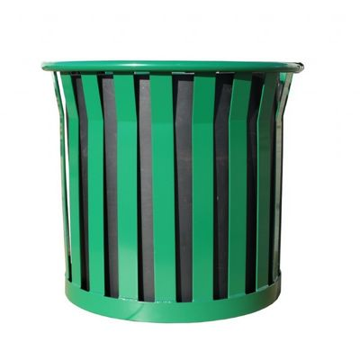 "Witt Outdoor Planter 27"" Green Steel - Wydman W-WPL2724-GN"