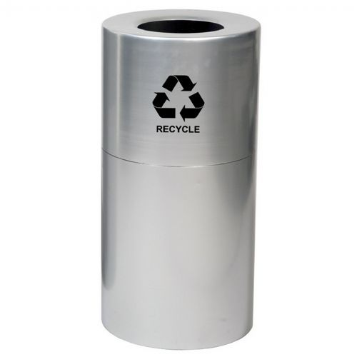 Witt Indoor Aluminum Series Recycling 35 Gal. Satin Clear Coat Steel W-AL35-CLR-R