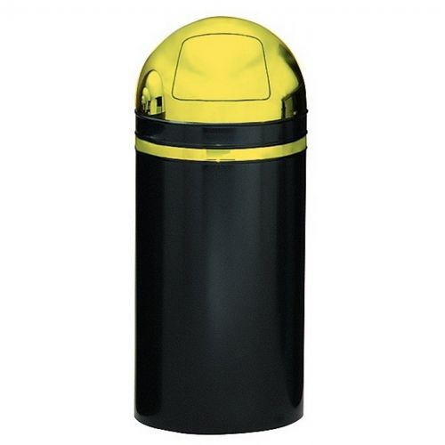 Witt Indoor Dometop 15 Gal. Black with Brass Accents Steel with Push Doors W-15DT-11