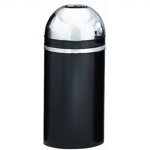 Witt Indoor Dometop 15 Gal. Black with Chrome Accents Steel with Open Top W-415DT-22