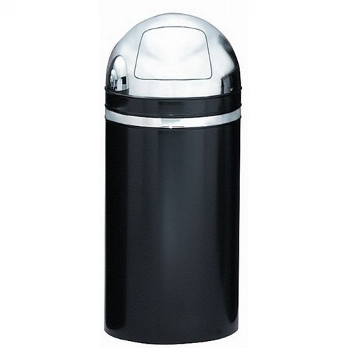 Witt Indoor Dometop 15 Gal. Black with Chrome Accents Steel with Push Doors W-15DT-22
