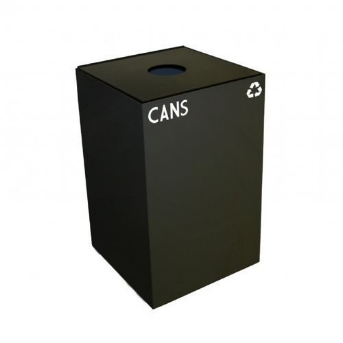 Witt Indoor Recycling Container 24 Gal. Charcoal Steel for Cans W-24GC01-CB