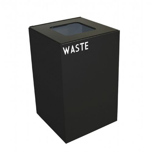 Witt Indoor Recycling Container 24 Gal. Charcoal Steel for Waste W-24GC03-CB