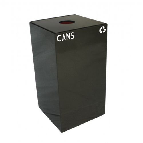 Witt Indoor Recycling Container 28 Gal. Charcoal Steel for Cans W-28GC01-CB