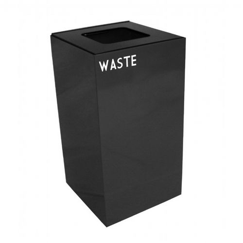 Witt Indoor Recycling Container 28 Gal. Charcoal Steel for Waste W-28GC03-CB