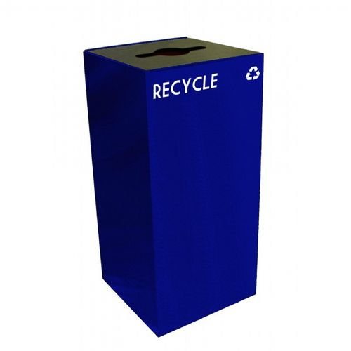 Witt Indoor Recycling Container 32 Gal. Blue Steel W-32GC04-BL