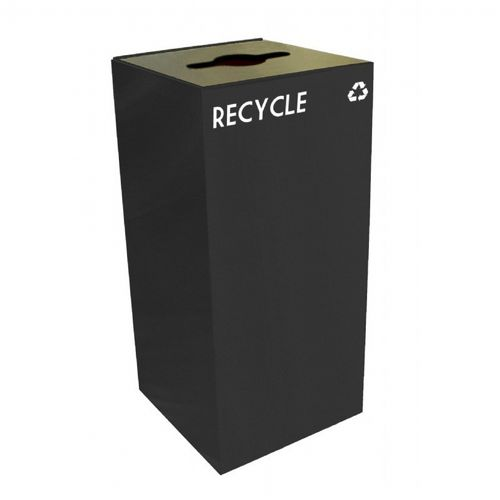 Witt Indoor Recycling Container 32 Gal. Charcoal Steel W-32GC04-CB