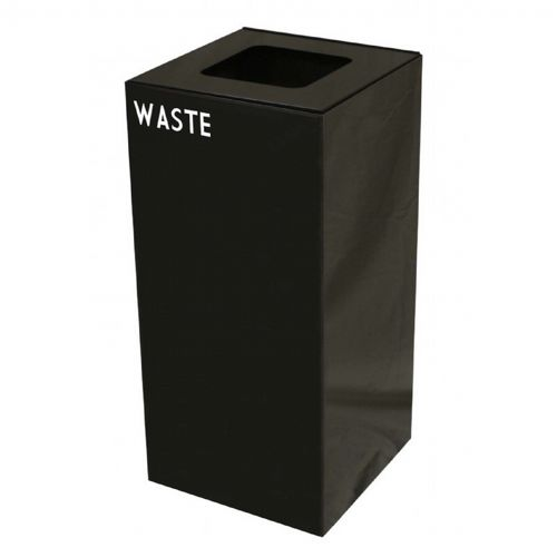 Witt Indoor Recycling Container 32 Gal. Charcoal Steel for Waste W-32GC03-CB