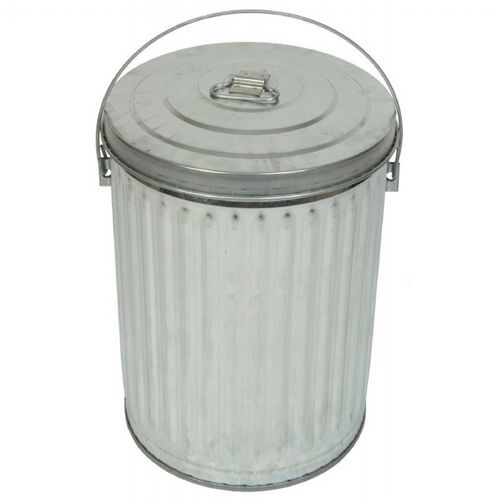 Witt Outdoor Can 10 Gal. Galvanized Steel with Lid W-10GPCL