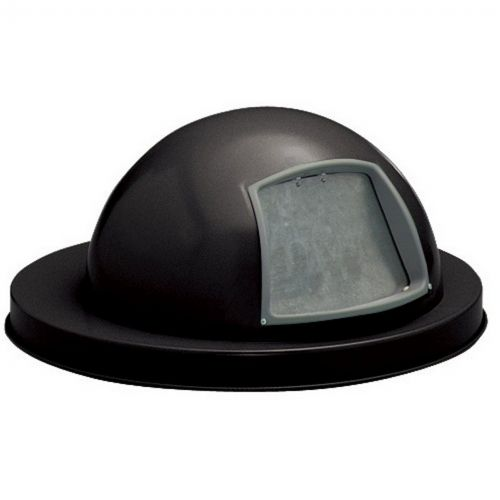 Witt Outdoor Dome Top Lid Black Steel W-M3601-DTL-BK