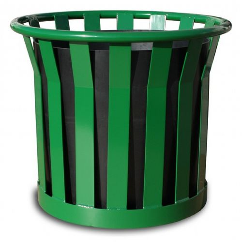 "Witt Outdoor Planter 22"" Green Steel - Wydman W-WPL2220-GN"