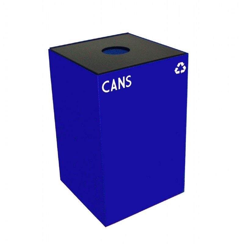 Witt Indoor Recycling Container 24 Gal. Blue Steel for Cans