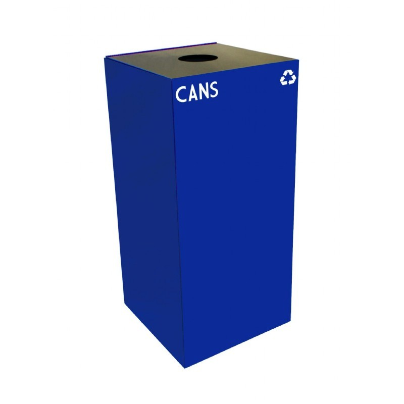 Witt Indoor Recycling Container 32 Gal. Blue Steel for Cans