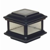4x4 Aluminum Colonial Solar Post Cap - Black SL088